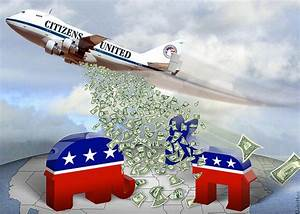 Citizens United Carpet Bombing Democracy - Cartoon ...
