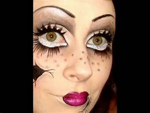 Halloween Make Up Puppe : psycho doll halloween makeup tutorial youtube ~ Frokenaadalensverden.com Haus und Dekorationen