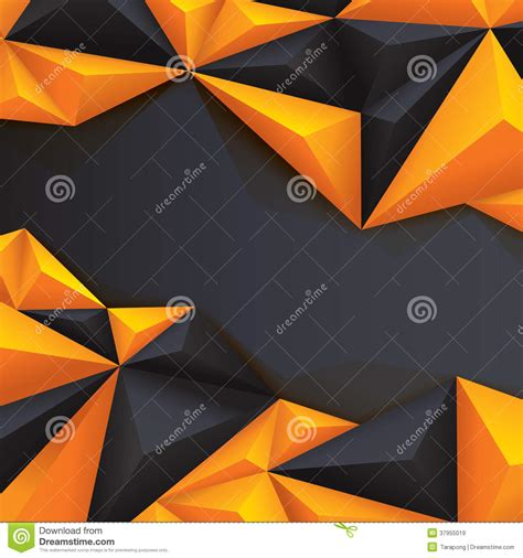 black  yellow geometrical background polygonal royalty