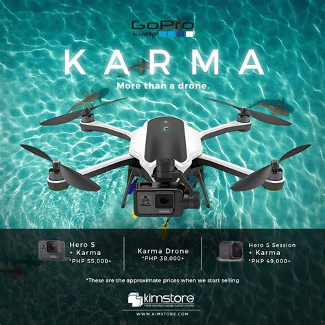gopros karma drone  preorder  kimstore starts  php  wwwunboxph