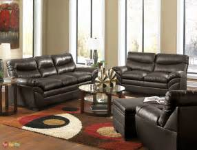 black livingroom furniture casual contemporary brown bonded leather sofa set living room furniture simmons ebay
