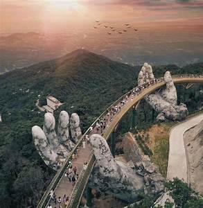 Da Design Mumbai Vietnam 39 S Newest Bridge Is Held By A Pair Of Giant Hands