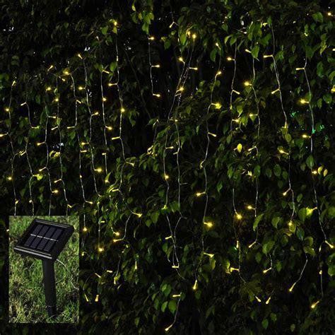 solar led curtain lights 100 led christmas xmas string fairy wedding curtain light