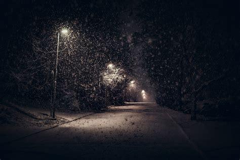 Snow Lights by Landscape Nature Light Snow Trees