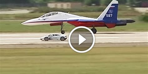 ultimate drag race sukhoi su  flanker jet fighter
