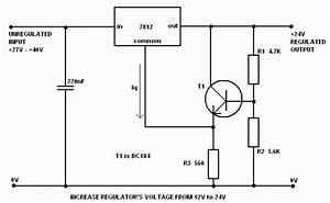 Build A Voltage Regulator 12v To 24v Using 7812