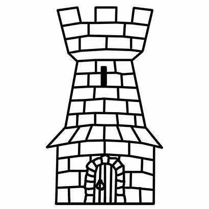 Castle Tower Bw Clip Clipart Ancient 20clip