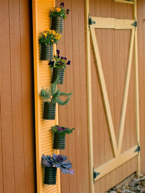 create  vertical garden  recycled window shutters hgtv