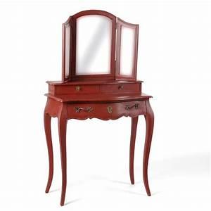 Coiffeuse 3 Miroirs : coiffeuse en bois gris blanchi the blog d co ~ Teatrodelosmanantiales.com Idées de Décoration