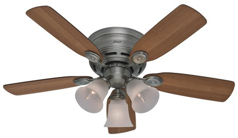 hunter 42 quot low profile plus ceiling fan 23857 in antique