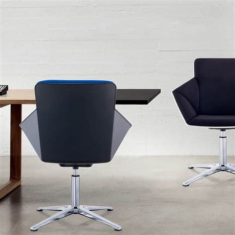 hex lounge chair on fixed sled base workspace