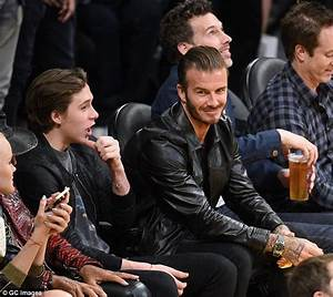 David Beckham takes Brooklyn to see Kobe Bryant's last ...