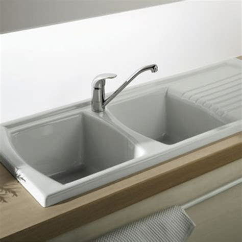 kitchen sink with drainer turner hastings lusitano recessed fireclay kitchen 8809