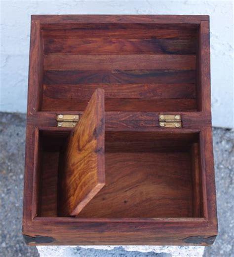 wooden box  secret compartment  false bottom
