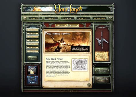 website templates fantasy fantasy web template