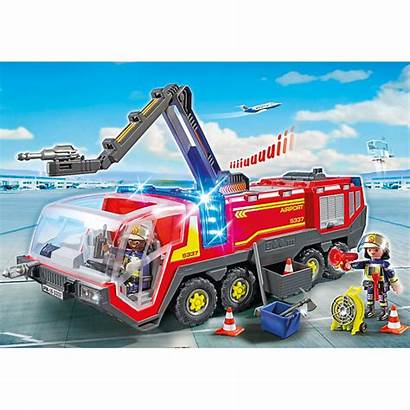 Playmobil Fire Truck Airport Action Rescue Engine