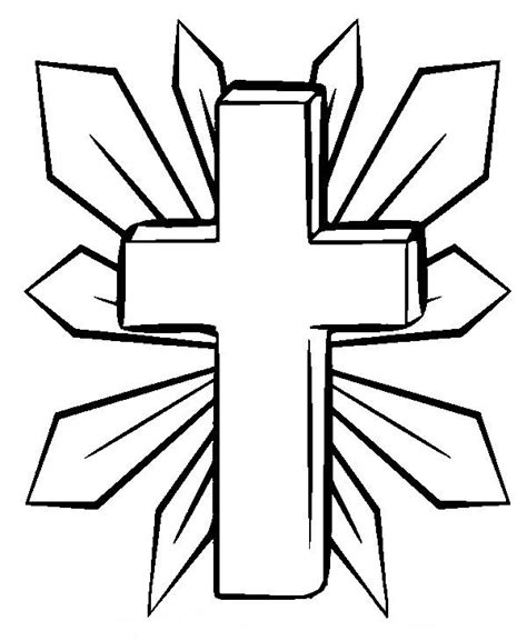cross coloring page cross coloring pages to print coloring home