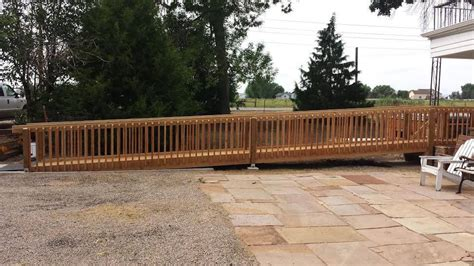 Custom Wood Wheelchair Ramp  Accessible Systems