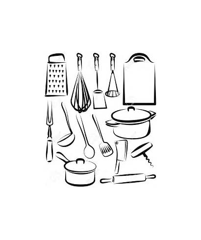 Kitchen Utensil Utensils Cooking Tools Coloring Pages