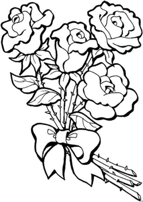 rosenstrauss mit schleife ausmalbild malvorlage blumen