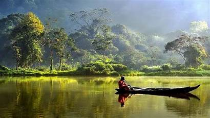 Indonesia Wallpapers Definition Indonesie Gunung Boat River
