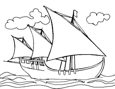 Christopher Columbus Boat Jesus by Columbus Day Ships Coloring Pages Family Holiday Net