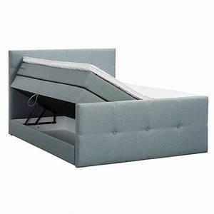 Boxspring Matratze 160x200 : boxspring vasteras grijs groen 140x200 cm ~ Watch28wear.com Haus und Dekorationen