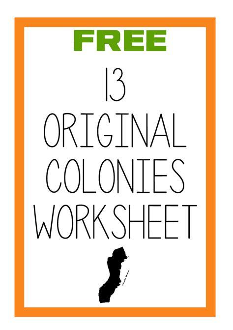 13 colonies worksheet new calendar template site