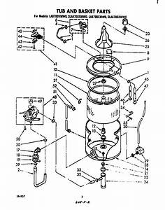 Tub And Basket Diagram  U0026 Parts List For Model La5700xmw0