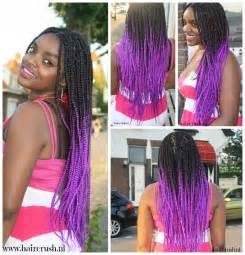 Black and Purple Box Braids