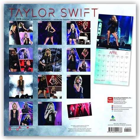 official taylor swift wall calendar browntrout uk