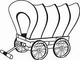 Coloring Pioneer Wagon sketch template