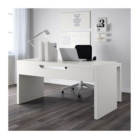 Ikea Malm Pull Out Desk White by Malm Desk With Pull Out Panel White 151x65 Cm Ikea