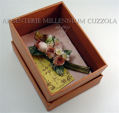 mazzolino di fiori di co bouquet bomboniere fiori matrimonio ceramica mazzolino
