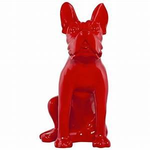 Statue Chien Design : statue d co dog rouge ~ Teatrodelosmanantiales.com Idées de Décoration