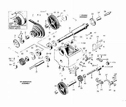 Lathe Parts Headstock Craftsman Spindle Diagram Sears