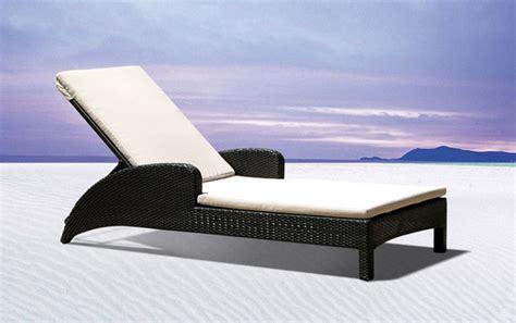 chaise longue de transat relax jardin fauteuil piscine en resine tressee maroc