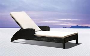 Bain De Soleil En Resine : chaise longue de transat relax jardin fauteuil piscine en resine tressee maroc ~ Teatrodelosmanantiales.com Idées de Décoration
