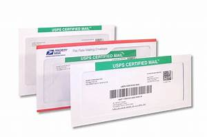 certified mail envelopes letter size 10 pack of 50 With mail a letter online usps