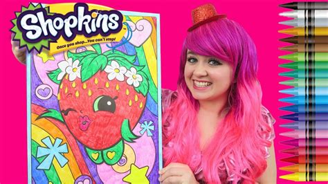 shopkins strawberry kiss giant coloring page crayola