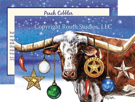 longhorn christmas cards