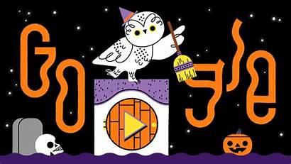 Halloween Google Doodles Logos
