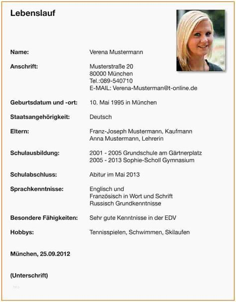 Lebenslauf Muster Praktikum by 17 Sch 252 Ler Lebenslauf F 252 R Praktikum Freyajacklin
