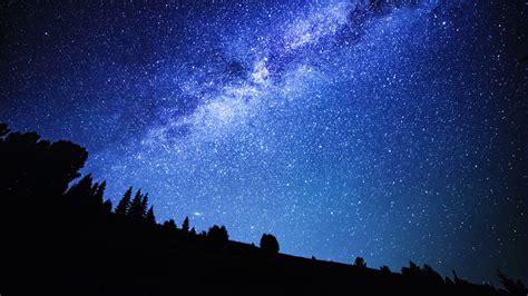 Time Lapse Rotating Night Sky With Stars Milky Way