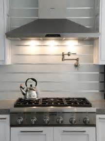 stainless steel kitchen backsplash 20 stainless steel kitchen backsplashes hgtv