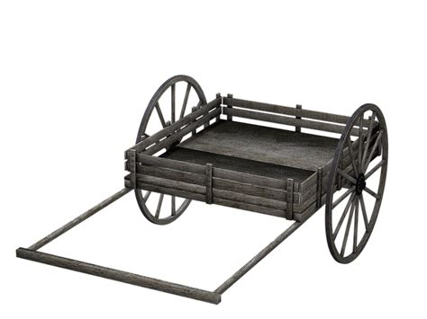 illustration cart wooden cart  isolated