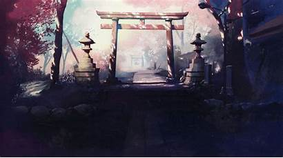 Anime Japanese Shrine Shinkai Makoto Wallpapers Wallpaperup
