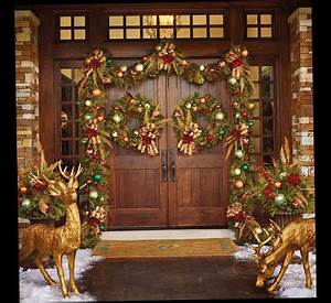 Christmas Front Door Porch Decorations Ellecrafts