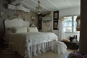 chambre romantique shabby chic nordique chambre de charme With chambre a coucher romantique