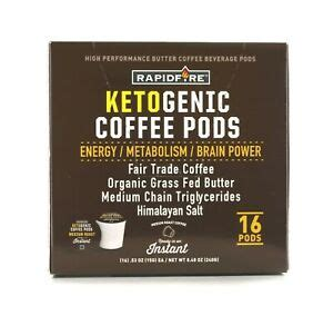 However, quality matters when it comes to making keto coffee. Rapid Fire Ketogenic Hi Performance Keto Coffee Pod 16 K-Cups BURN FAT 3 FLAVORS | eBay